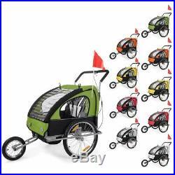 Remorque Vélo Convertible Jogger 2en1 Enfants Amortisseur Transport Neuf SAMAX