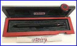 Rotring 600 Trio Mat Stylo Bille Noir Bleu Rouge & Crayon Neuf en Boîte 502640