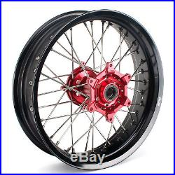 Roues HONDA CR CRF 125 250 450 CRF250 CRF450 17 Moyeu Rouge Cercle Noir Neuf