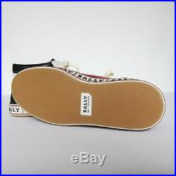 S-1354158 Neuf Bally Ilvo 128 Rouge Baskets Taille 7D Marqué 6E