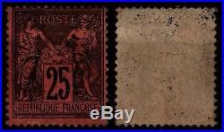 SAGE 25c Noir sur Rouge, Neuf avec Gomme = Cote 1.500 / Lot Timbre France 91
