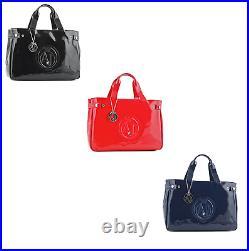 Sac Armani Jeans Femme Verni Noir Bleu Blanc Rouge 05291 55 12 Emporio Neuf