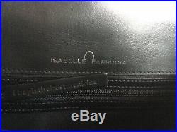 Sac besace Isabelle Farrugia cuir noir et rouge clous argentés Neuf