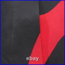 Saint Laurent Chemisier Gr. 36 Fr 38 Rouge Noir Femmes Haut Chemise Neuf