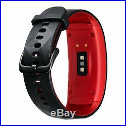 Samsung Gear Fit 2 Pro Noir/Rouge Taille Large pour smartphone iOS, Android NEUF