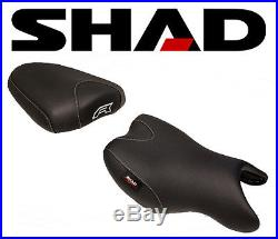 Selle SHAD Confort Moto SUZUKI GSR 750 2011 à 2016 Noir coutures Gris Rouge NEUF