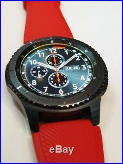 Smartwatch Samsung Gear S3 Frontier bracelet rouge + bracelet noir neuf