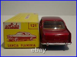 Solido Série 100 Ref 121 Lancia Flaminia rouge métal plancher noir Neuf