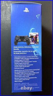 Sony PS4 Dualshock 4 Jet Noir Manette v2 Fifa 21 Paquet Neuf