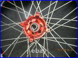 Suzuki RMZ250 RMZ450 2010-2020 Neuf Sm Pro 53.3cm+48.3cm Noir/Rouge Roue Set