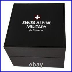 Swiss Alpine Military Par Grovana Montre Hommes Chronographe 7040.9557 Made Neuf