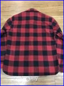THE FLAT HEAD Flanelle Chemise Bloc Carreaux Rouge Noir Taille 44 Neuf De Japon