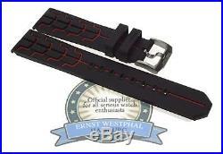 Tag Heuer Bracelet en Caoutchouc Noir/Rouge pour Neuf F1 Quartz Chronographe
