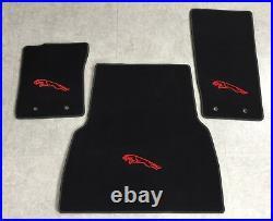 Tapis de Coffre Ensemble Pour Jaguar F Type Noir Rouge Velours 3teilg Neuf