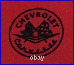 Tapis de Voiture Coffre Ensemble Pour Corvette C1 1961-62 Rouge Noir 3tlg. Neuf