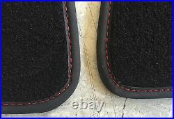 Tapis de Voiture Coffre Pour Ferrari 348 Spider Noir Couture Rouge Velours Neuf