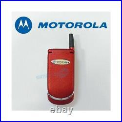 Téléphone Cellulaire Motorola V998+ Rouge Gsm Double Bande Remis à Neuf