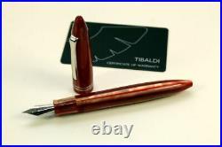 Tibaldi Seashell Mist Résine Précieuse Rouge/Or Palladium Stylo-Plumes Neuf