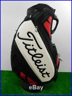 Titleist Scotty Cameron Golf Staff Sac Noir/Blanc/Rouge 6-Way W Rainhood Neuf
