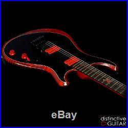 Tout Neuf Knaggs Steve Stevens Signature Guitare Severn Ss-Xf Indien Rouge Noir