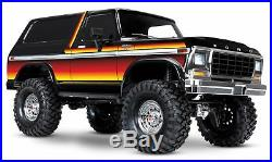 Traxxas TRX-4 1979er Ford Bronco Robot TQi2.4GHz Noir Rouge/Jaune 110 82046-4