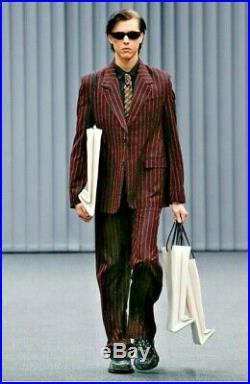 Veste Balenciaga noire à rayures rouges état neuf jamais portée 48 IT