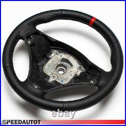 Volant en Cuir BMW E90 E91 E82 E84 E87 E88 E93 Neuf Cuir Noir Rouge Anneau