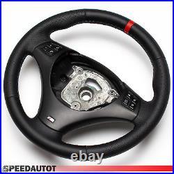 Volant en Cuir BMW M-POWER E90 E91 Neuf Cuir Couverture Noir Rouge Anneau