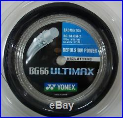 Yonex BG-66 Ultimax 200m Rouleau Rouge ou Noir Badminton Raquette Neuf Wow