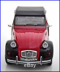 Z Models1978 Citroen 2 Cv Charleston Rouge Foncé / Noir en 1/12 Échelle Neuf